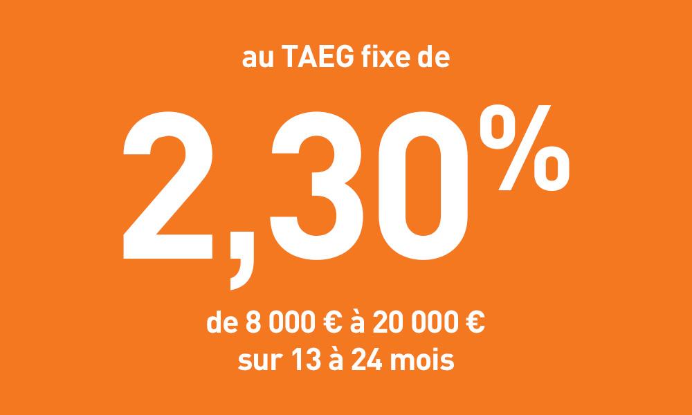 Prêt Personnel à partir de 2,30% TAEG Fixe
