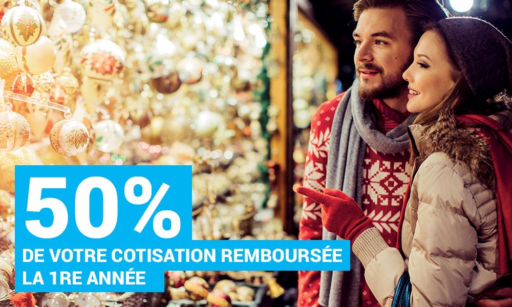 50% de votre cotisation remboursée