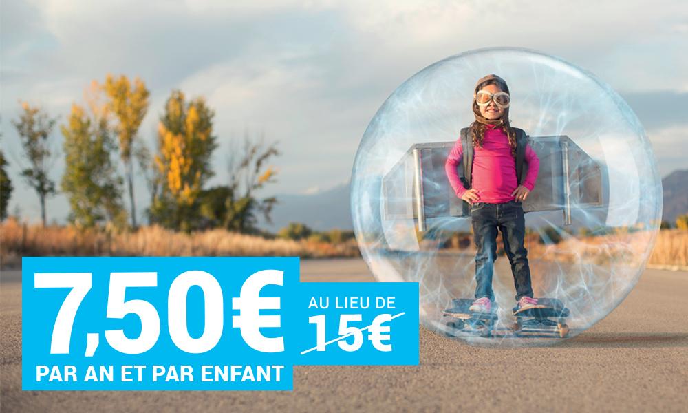 7,50 € par an et par enfant