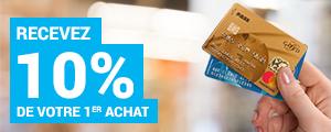 Recevez 10 % de votre 1er achat avec la Carte PASS