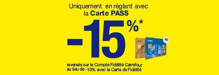 -15% avec la carte pass