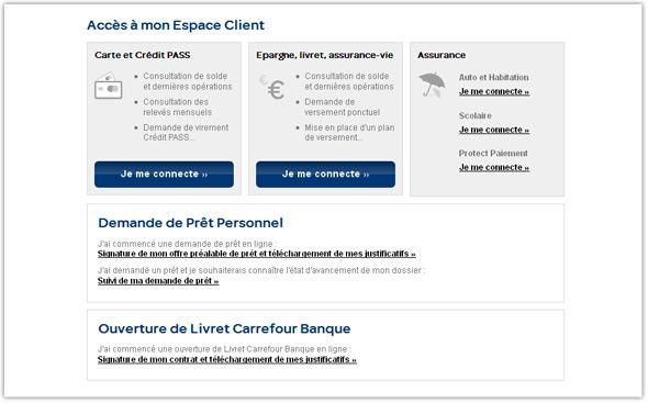 Carte Carrefour Bloquee.Connexion A Votre Espace Client Epargne Et Recuperation De