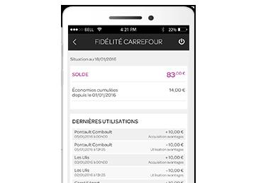 application mobile carrefour banque. Black Bedroom Furniture Sets. Home Design Ideas