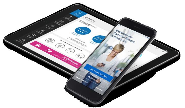 application carrefour banque smartphone et tablette