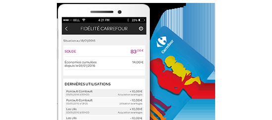 carrefour espace client carte fidélité Application Espace Client | Carrefour Banque