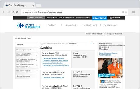 Guide Pret Personnel Espace Client Carrefour Banque