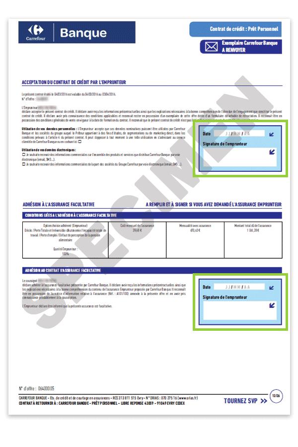 Carte Accord Releve De Compte.Comment Completer Votre Contrat De Pret Personnel